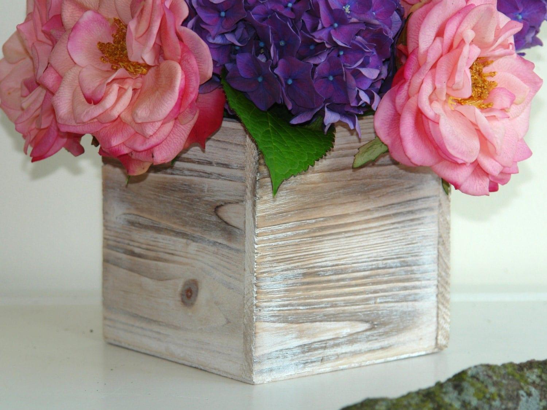 Wood Box Wood Boxes Square Wood Vase Wedding Flower Pot