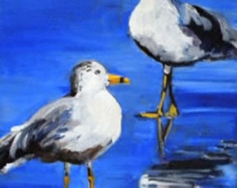 Reflecting Two   8x10 oil Painting