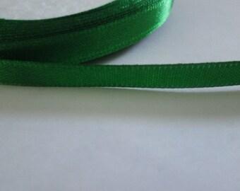 Dark Green Satin Ribbon, 6mm Satin Ribbon, Green Trim, 1 Roll (25yards)