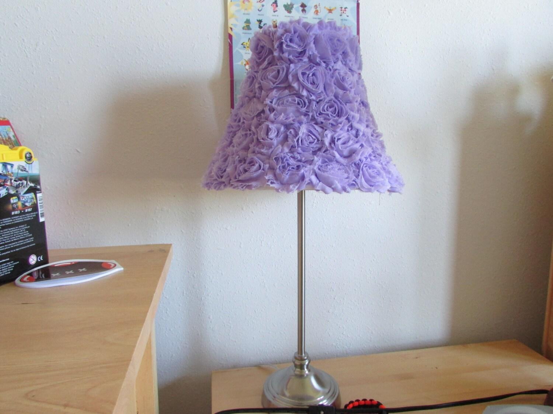Sale Lavender Rose Lamp Shade Shabby Chic Lamp Shade Nursery