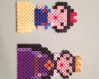 Snow White and Evil Queen, Perler Beads, Geekery, magnet, christmas ornament