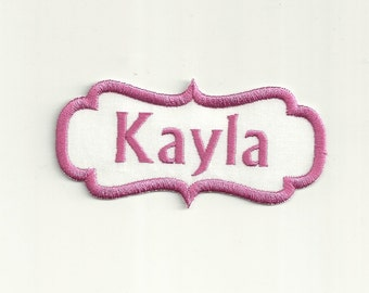 Your Name in a Border Patch, Any Color Combo! Custom Made!