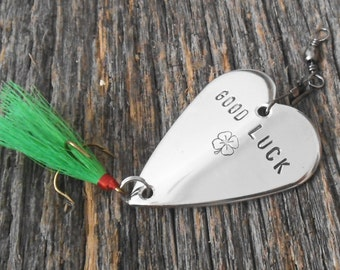 Lucky Irish Wedding Favor Fishing Lure Good Luck Gift Irish Guy Gift Graduation Boyfriend St. Patricks Day Ireland Dad Husband Anniversary