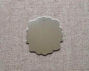 Sterling silver blank pendant