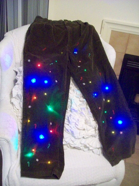 Ugly Christmas Sweater Corduroy Pants Men By
