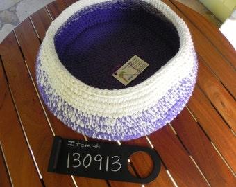 Crocheted yarn all-purpose basket  ---FREE U.S. SHIPPING---  (Item 130913)