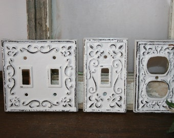 3 piece set-  light switch covers / electrical covers  / outlet covers / socket covers