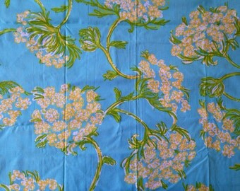 Lilly Pulitzer Fabric in Racy Lacy Suft Blue (floral, flowers, queen anne's lace, turqouise)