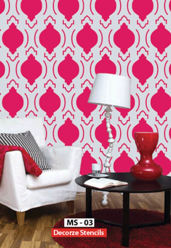 wall stencils for living room moroccan wall stencil design reusable home decor ms 03 22071