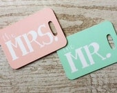 Destination Wedding Gift For Bride And Groom : Bride and Groom-Honeymoon Luggage Tag-Destination Wedding-Wedding Gift ...