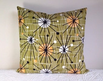 Atomic 1950s style cushion cover mid-century pop design