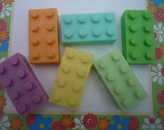 novelty brick soaps x 4