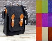 NEW lower price!!!! Custom colors, Vertical Laptop bag 13 in, , felt satchel, macbook pro, macbook air 13 inch sleeve, case, bag