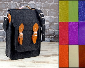 Custom colors, Vertical Laptop bag 13 in, , felt satchel, macbook pro, macbook air 13 inch sleeve, case, bag