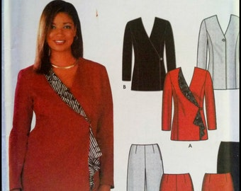 Simplicity 7100 Misses' Skirt, Slim Pants And Lined Jackets  Size (14-20)  UNCUT