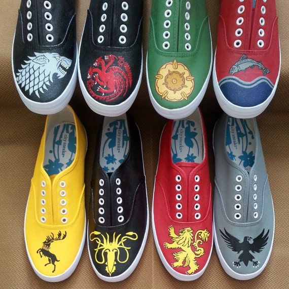Game of Thrones house sigil shoes