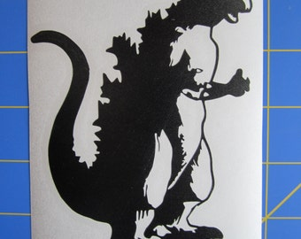 Godzilla 60s Decal/Sticker 4X5