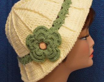 Womans Floppy Brim Hat in Yellow
