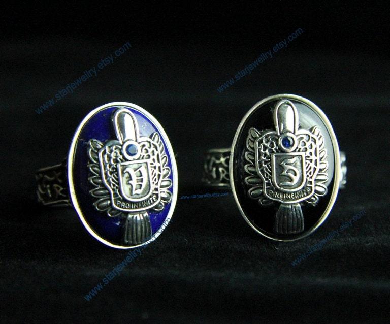 Steampunk Vampire Diaries Damon D Salvatore 925sterling Ring