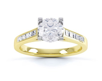 Shanti 18ct Yellow Gold Princess Cut Solitaire Engagement Ring 0.35ct