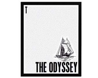 The Odyssey by Homer - Book Art Print - Poster for Book Lovers - Literature Poster - English Teacher Gift - Literary Classic - 8x10 Wall Art
