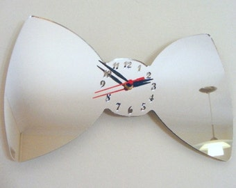 Bow Clock Mirror - 2 Sizes Available
