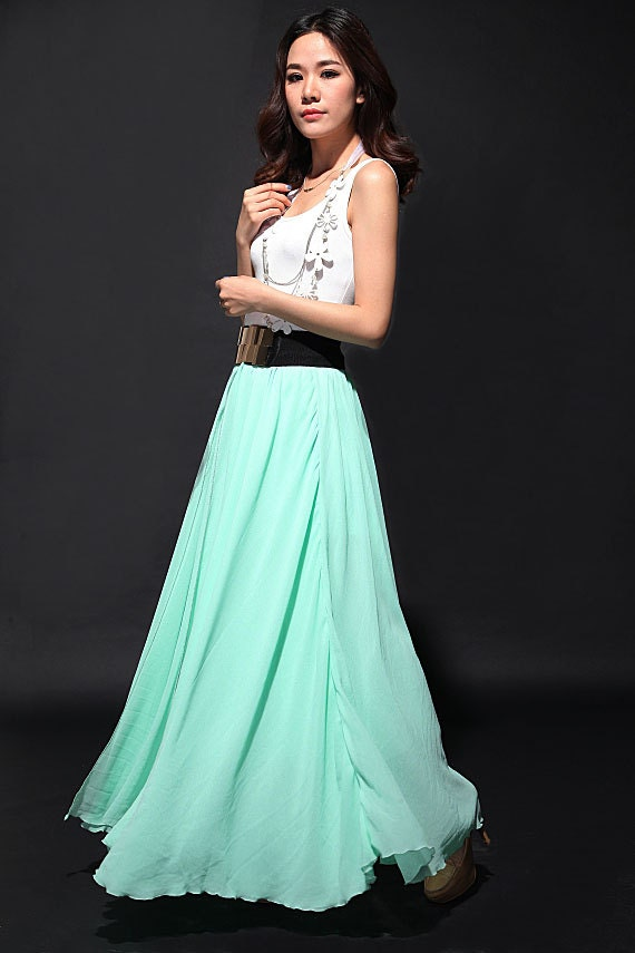 chiffon wedding skirt skirt maxi by dresstore2000