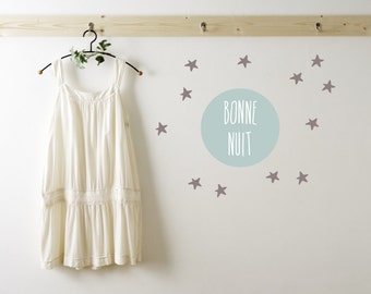Bonne Nuit Wall Decals - Bonne Nuit Nursery Wall Decals