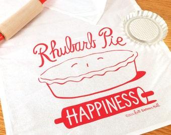 Fresh Rhubarb Pie Kitchen Tea Towel