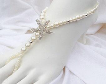 Pearl Starfish Barefoot Sandal Bridal Jewelry Beach Wedding Bridal Barefoot Sandals
