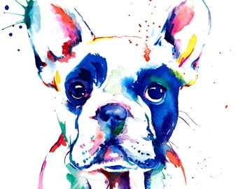 French Bulldog (Frenchie) Art Print - Print of Original Watercolor Painting