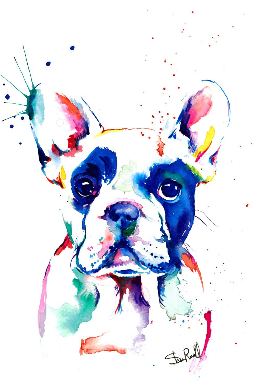 Uncategorized Bulldog Pictures To Print french bulldog frenchie art print of original