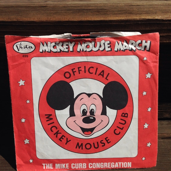 Mickey Mouse March 45 Vinyl Record By Linenandwillow On Etsy