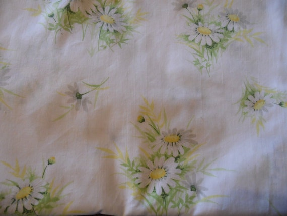Free Shipping Daisy Sheets Vintage Twin Sheets Fitted