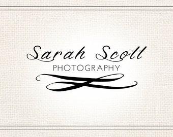 Premade Photography Text Watermark + Logo