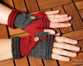 """Fingerless Mittens """"Follow Me""""  knitting pattern PDF download - suitable for advanced beginners, eye catcher, diy holiday gift"""