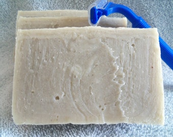 Unscented Cold Process Shaving Soap with Bentonite Clay and Colloidal Oatmeal