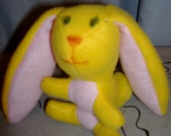 Small Handmade Stuffed Artisan Bunny Rabbit - Easter