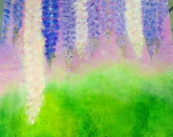 """Abstract Lupine Painting - """"Soft Focus"""""""