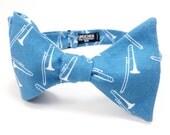 Trombone in Cobalt Blue Bow Tie - bowtie, bowties, bow ties, geek, geeky, nerd, nerdy, geeky chic, band, music, musician, fun, trombones