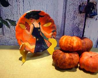 Happy Halloween Miniature Plate for Dollhouse 1:12 scale