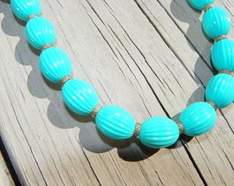 Light Blue Vintage Trifari Necklace
