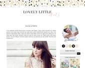 Lovely Little Dots Blogger Template - Blogger Theme - Premade Blogger - Feminine Blogger - Gold Confetti Feminine Fashion Lifestyle