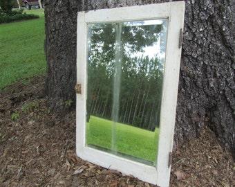 Shabby Chic Mirror, Large Beveled Mirror, wood mirror, white mirror, mirror, shabby chic decor, wedding