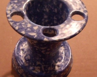 Stangle Pottery Toothbrush Holder Blue
