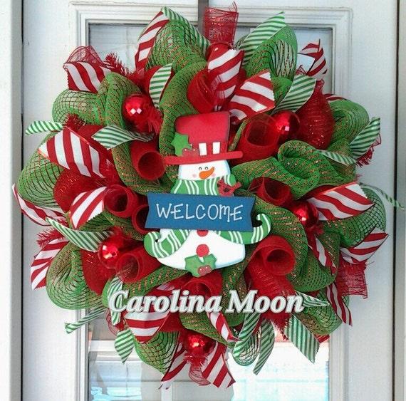 welcome christmas wreath on - photo #4