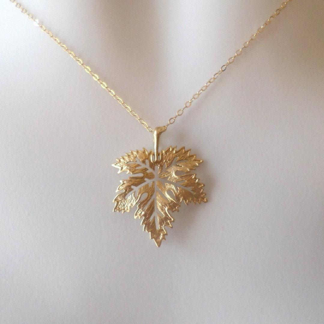 set of four maple leaf necklaces gold maple leaf necklace