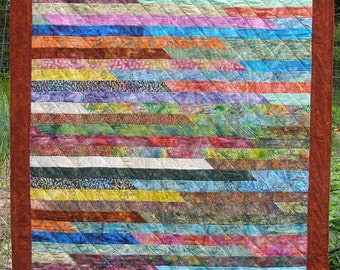 Multicolor Jelly Roll Quilt