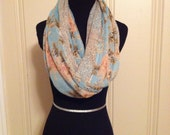 Pearl's Garden with Dots Infinity Scarf