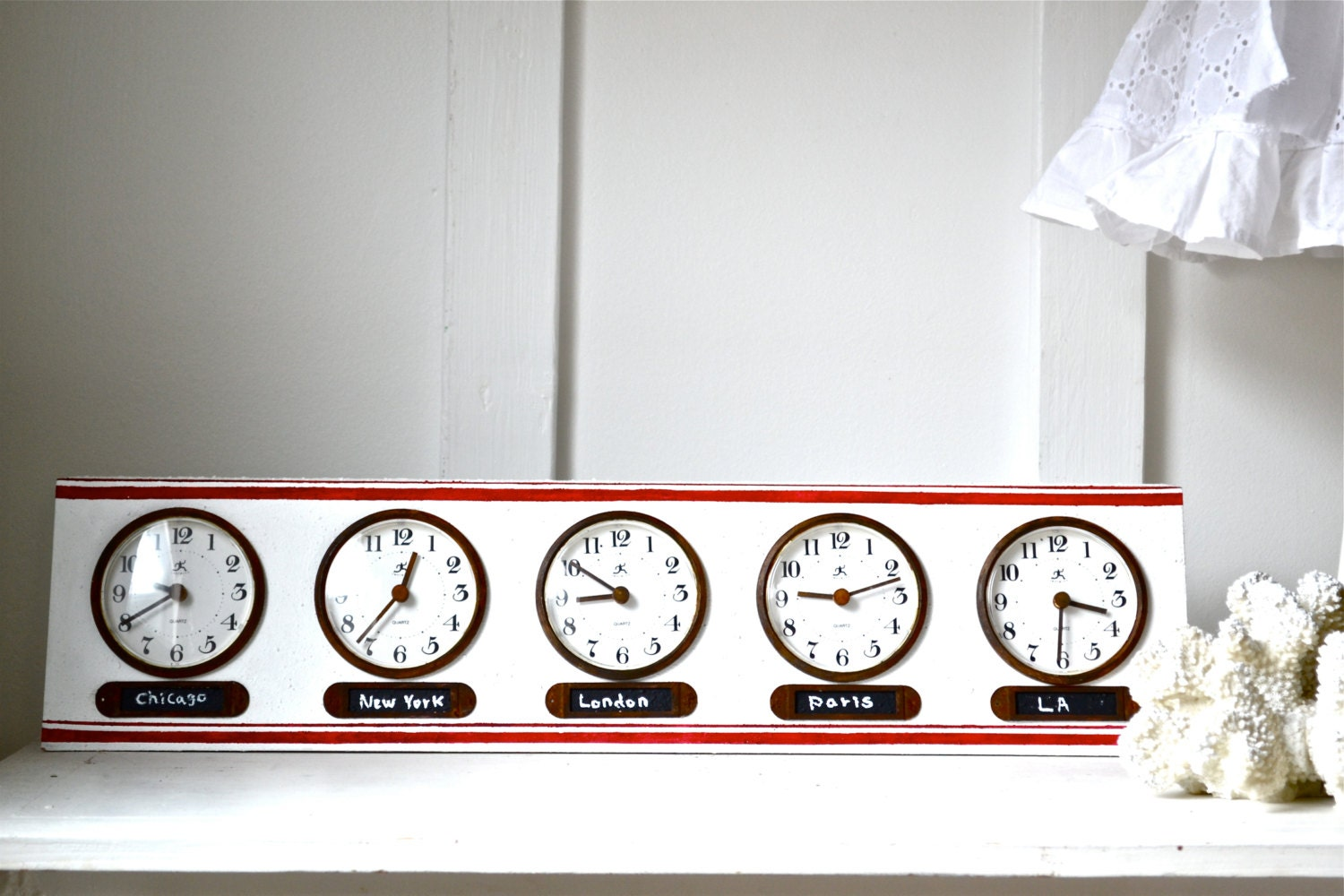It is a graphic of Unusual Time Zone Clock Labels